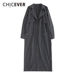 Jackets & Blazers - Vintage Striped Trench Coat